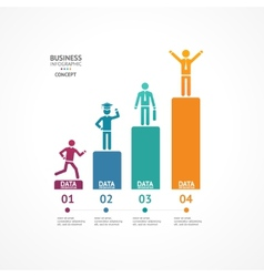 Step by step to success infographics vector