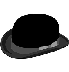Black bowler hat vector