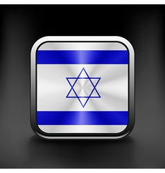 Israel icon flag national travel icon country vector