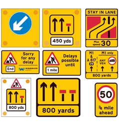 Road traffic work signs vector