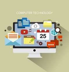 Computer technology vector