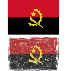 Angolan grunge flag vector
