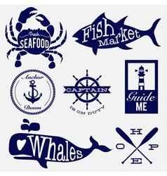 Sea badge vector