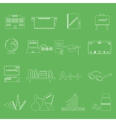 Teacher profession and teaching outline icons vector