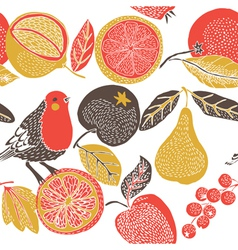 Vintage screenprint nature vector