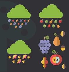 Autumn icons designs vector