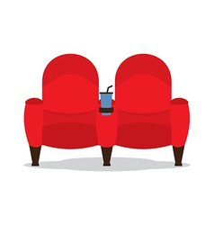 Cinema seats for lovers vector