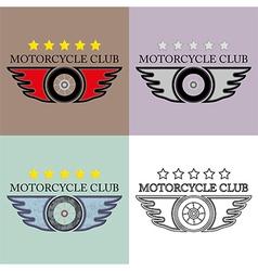 Vintage and retro motorcycle club logo set vector