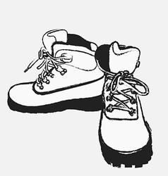 Tour boots 02 vector