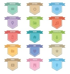 Label icons set vector