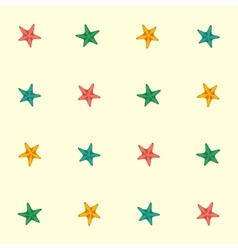 Starfishes seamless pattern vector
