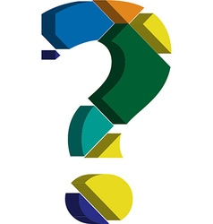 3d question mark symbol vector