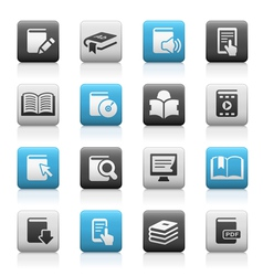 Books icons matte series vector