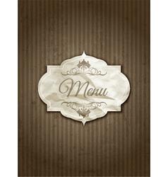 Vintage menu design vector