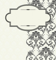 Decorative pattern and frame vector
