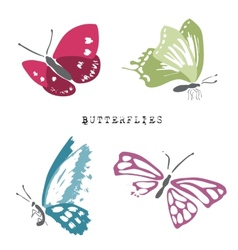 Set of dead and alive butterflies vector