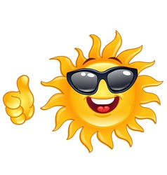 Thumb up sun vector