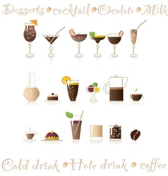 Hot  cold drinks vector