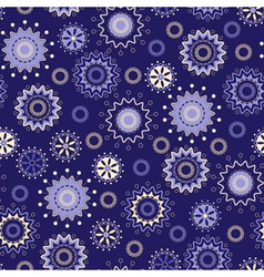 Seamless pattern with magical stars vector