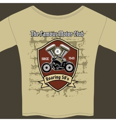 T-shirt design for a motorcycle workshop vector