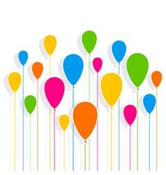 Balloon design pattern background vector