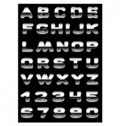 Metallic typography vector