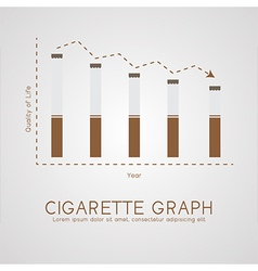 Cigarette graph flat life and age concept vector