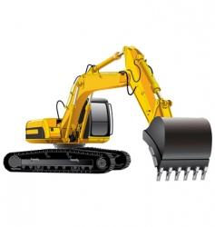 Power excavator vector