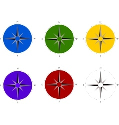 Compass set vector