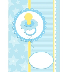 Greetings card or postcard with babys dummy vector