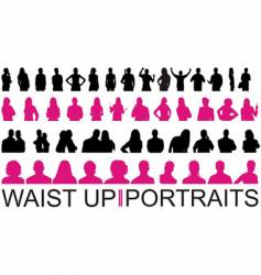 Waist up and portraits vector