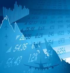 Financial crash blue vector
