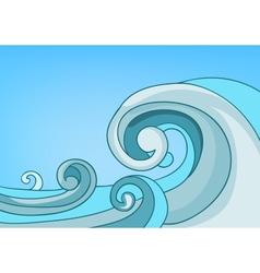 Cartoon nature landscape sea vector