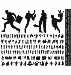 Silhouettes huge collection vector