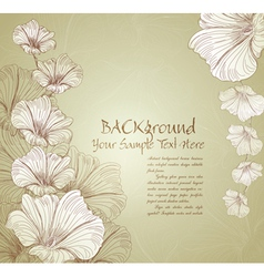 Congratulatory floral background vector