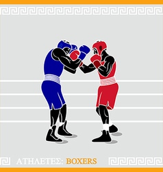 Athlete boxers vector