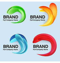 Unusual modern company design vector