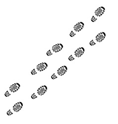 Shoe print track vector