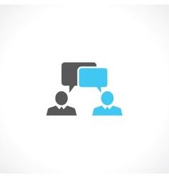 Conversation of people vector