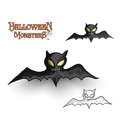 Halloween monsters spooky vampire bat eps10 file vector