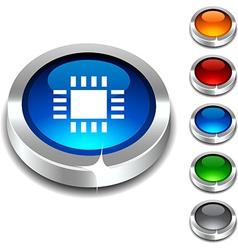 Cpu 3d button vector
