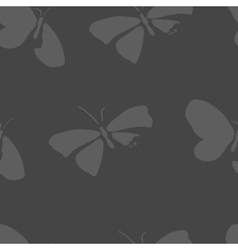 Seamless pattern with dead butterflies vector