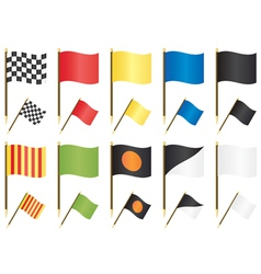 Formula one racing flags vector