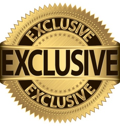 Exclusive gold label vector