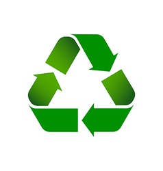 Recycle symbol colored vector
