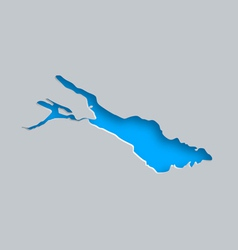Map of lake constance vector
