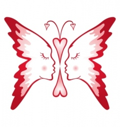 Butterfly of love vector