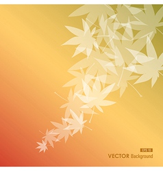 Abstract leaves composition fall season background vector