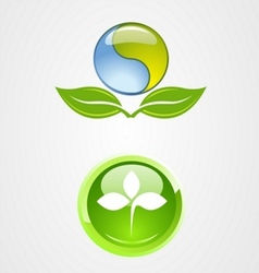 Set of environment logo icon design vector