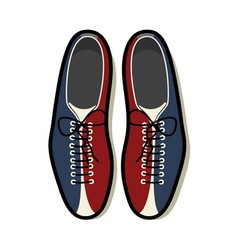 Bowling shoes color resize vector